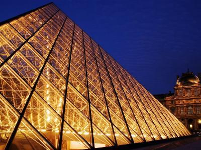 Grande Pyramide at the Musee Du Louvre, Paris, France