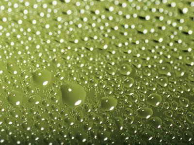 Drops and Droplets of Water on a Sheet of Glass