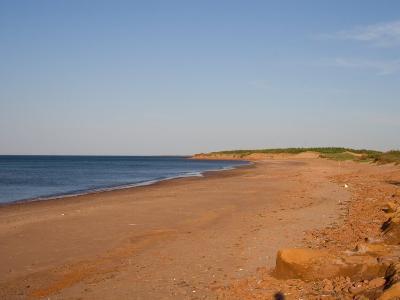 A Beautiful Summer Day on an Empty Beach by the Ocean, Prince Edward Island, Canada