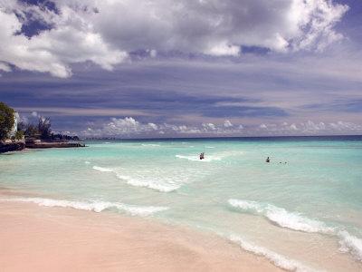 View of Dover Beach, Barbados, Caribbean