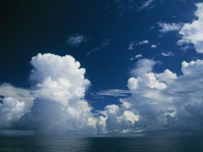 Dramatic Cloud-Filled Sky over the Vast Pacific Ocean