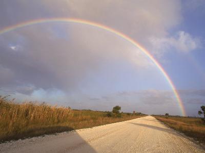Rainbow Across a Blue Sky, Everglades, Florida
