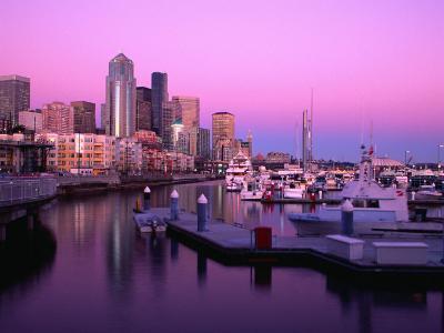Bell Harbour Marina at Sunset, Seattle, Washington, USA