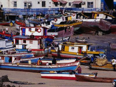 Boats Moored at Casco Viejo, the Old Colonial Quarter, Panama City, Panama