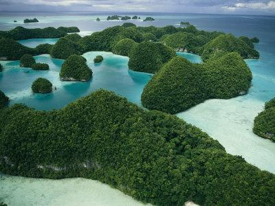 Aerial View of Islands in the Republic of Palau