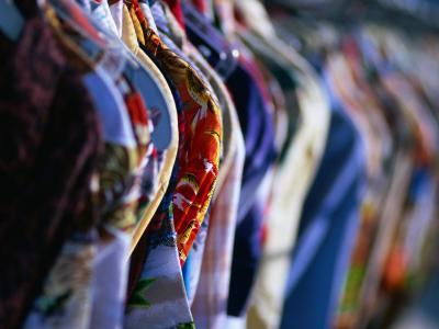 Second Hand Shirts for Sale from Shop on Melrose Avenue, Los Angeles, California, USA