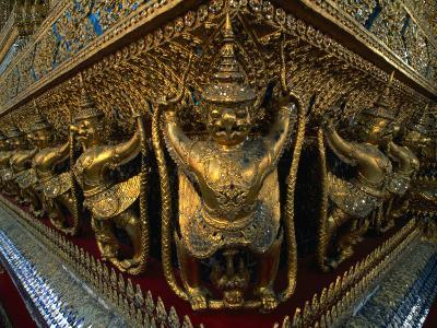 Garudas on Temple of the Emerald Buddha, Wat Phra Kaew, Bangkok, Bangkok, Thailand