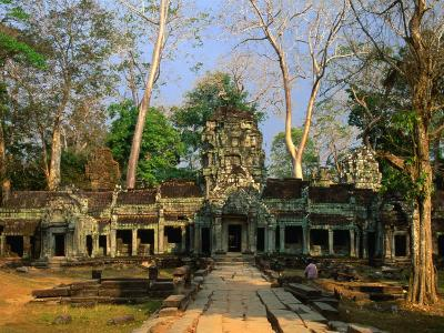 West Entrance of Ta Prohm Temple, Angkor, Siem Reap, Cambodia
