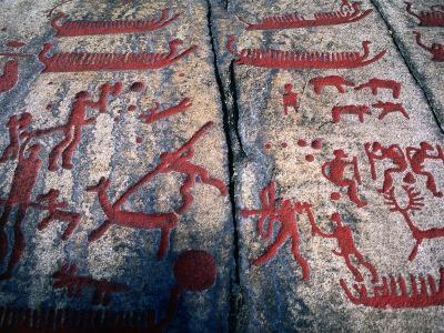 Tanumshede Bronze Age Rock Carvings, Tanumshede, Vaster-Gotaland, Sweden