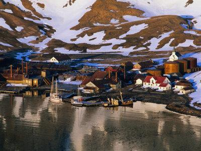 The Now Abandoned Grytviken Whaling Station in King Edward Point, Antarctica