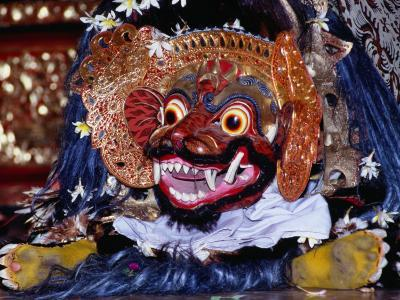 Dancer in Barong Mask During a Performance for Tourists in Peliatan, Peliatan, Indonesia