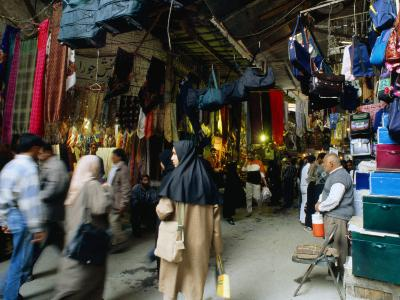 Shoppers in Central Bazaar Area Shiraz, Fars, Iran