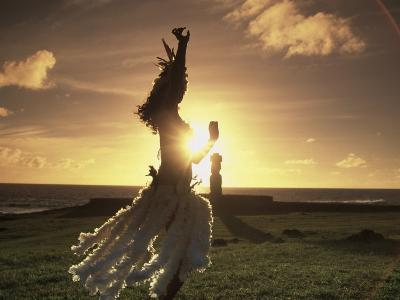Polynesian Dancer, Ahu Tahai, Easter Island