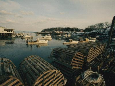 Harbor View with Lobster Traps