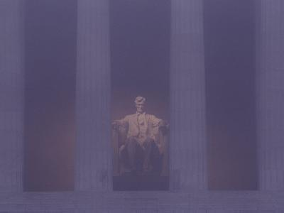 Misty View of the Lincoln Memorial