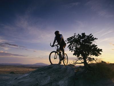 Cyclist at Sunset, Northern Arizona