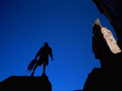 Silhouette of Rock Climber, UT
