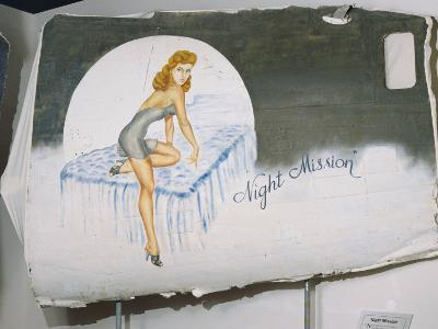 A View of a Painting That Once Decorated the Door of a World War Ii Bomber