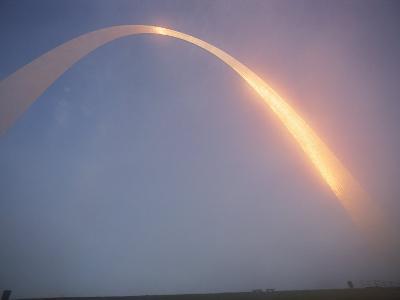 Misty View of Gateway Arch