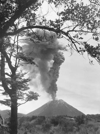 View of Ngauruhoe Volcano, Which Erupted in December 1934