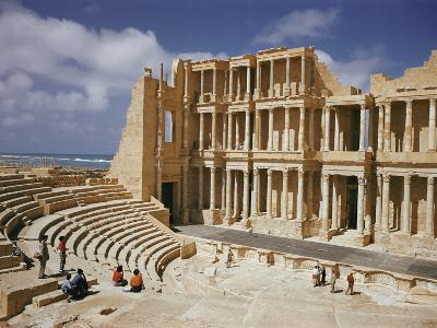 A Restored Theater at the Site of the Ancient Roman City of Sabratha