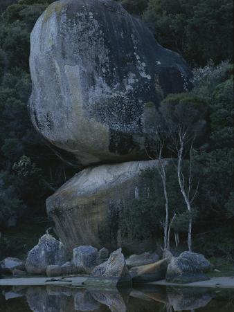 Huge Granite Boulders Encrusted in Lichens