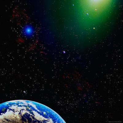 Illustration of Earth and Stars