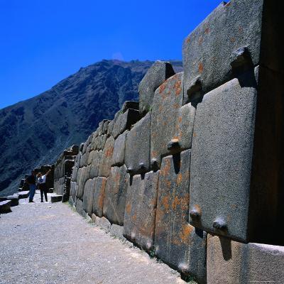 Part of the Temple at Ollantaytambo, Cuzco, Peru