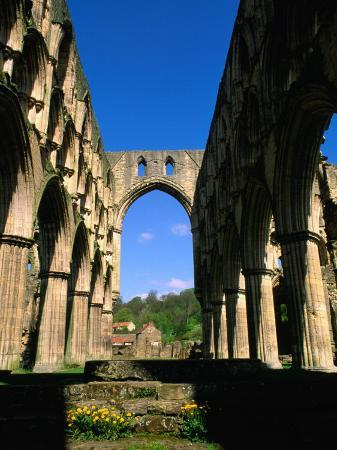 Remains of Rievaulx Abbey Built in 13th Century, England