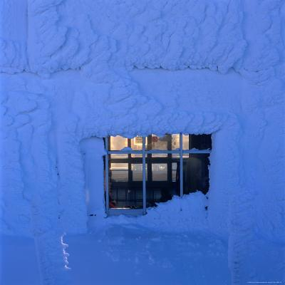 Frozen Wall at Are Ski Resort, Are, Jamtland, Sweden