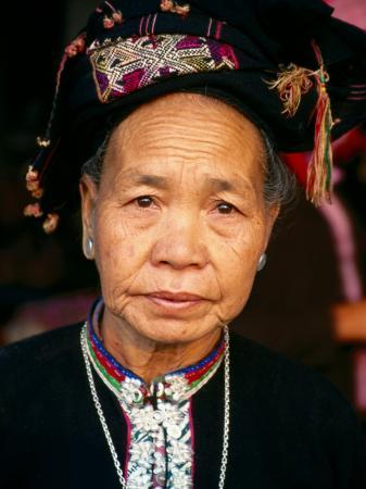 Thai Dam Woman, Looking at Camera, Muang Sing, Laos