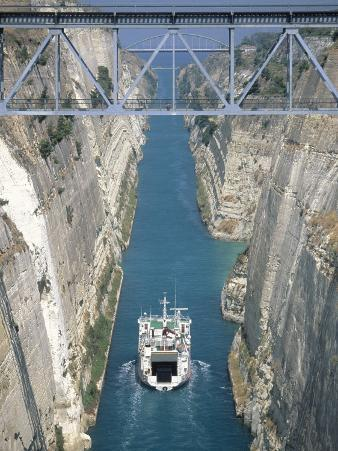 Corinth Canal, Peloponnisos, Greece