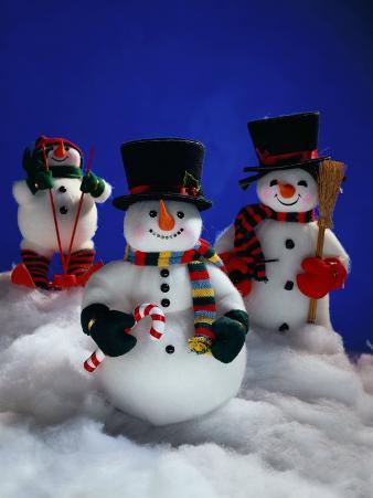 Three Christmas Snowmen