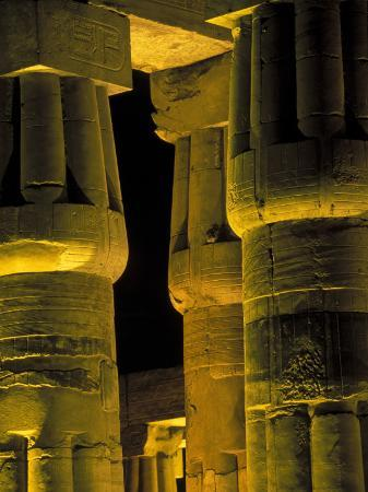 Lotus Columns of the Luxor Temple, Egypt