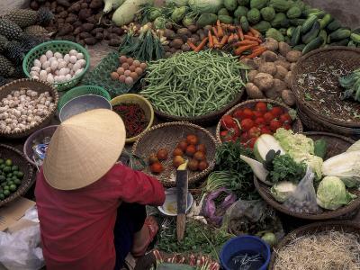 Vegetable Market, Hue, Vietnam