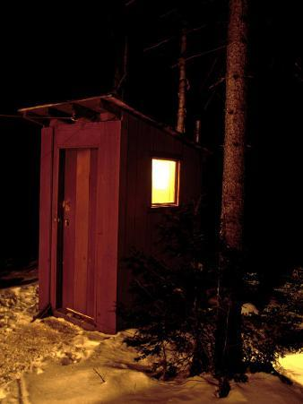 Outhouse at the Sub Sig Outing Club's Dickerman Cabin, New Hampshire, USA