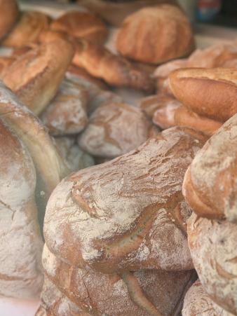 Loafs of Bread, Vesuvio Bakery, Prince Street, New York, New York, USA