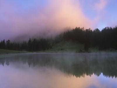 Tipsoo Lake Dawn, Mt. Rainier National Park, Washington, USA