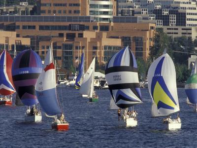 Duck Dodge Sailboat Race, Lake Union, Seattle, Washington, USA