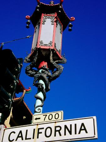 Street Lamp in Chinatown, San Francisco, United States of America