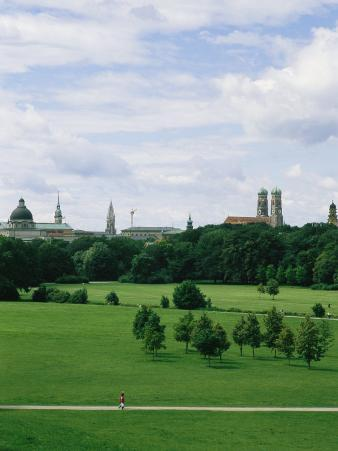 A View of the English Garden in Munich, Germany