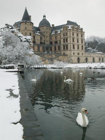 Chateau de Vizille Park, Swan Lake, Vizille, Isere, French Alps, France