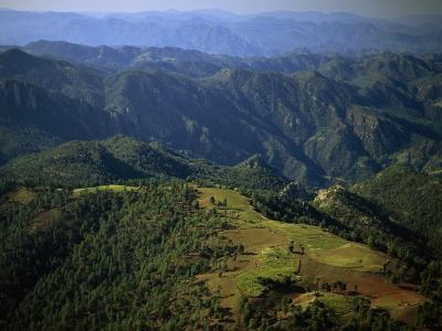 Tarahumara Indian Farms atop a Mountain in the Copper Canyon Region of Mexico