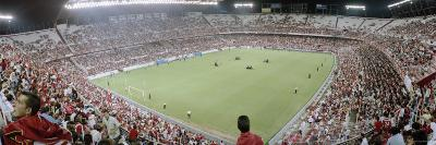 Crowd in a Stadium, Sevilla FC, Estadio Ramon Sanchez Pizjuan, Seville, Seville Province, Andalucia