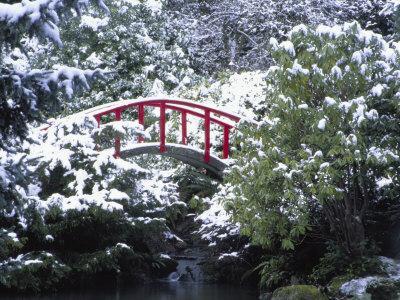 Moon Bridge in Kabota Gardens, Seattle, Washington, USA
