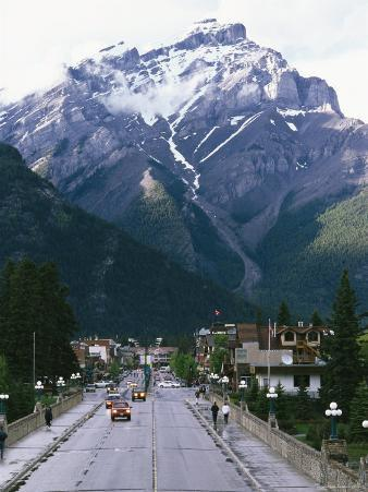 Cascade Mountain Looms above the Town of Banff