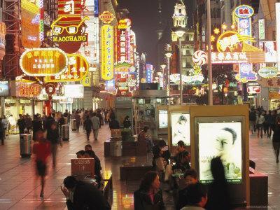 Neon Signs in Nanjing Lu, Shanghais Prime Shopping Street