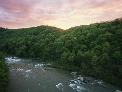 An Elevated View of Youghiogheny River from Ohiopyle State Park
