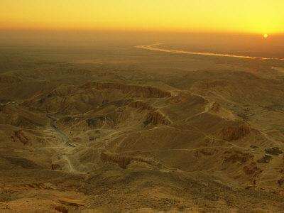 Sunrise Over the Valley of the Kings in the Western Desert