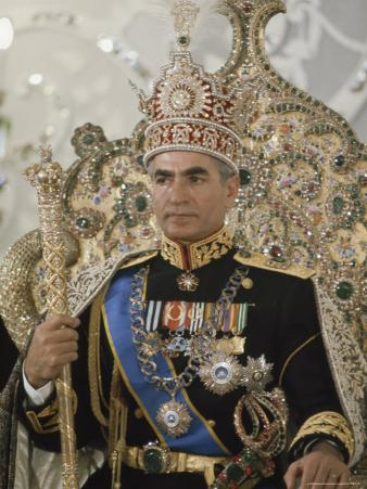 Portrait of the Shah of Iran Taken During Coronation Ceremonies, Gulistan Palace, Tehran, Iran